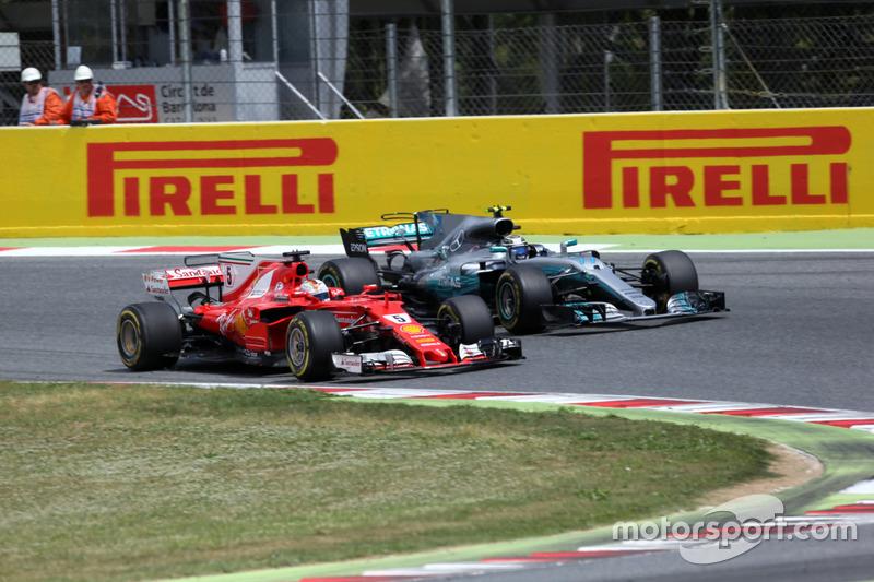 Себастьян Феттель, Ferrari SF70H, Валттері Боттас, Mercedes-Benz F1 W08