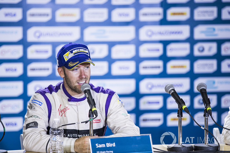 Winner Sam Bird, DS Virgin Racing, en la conferencia de prensa