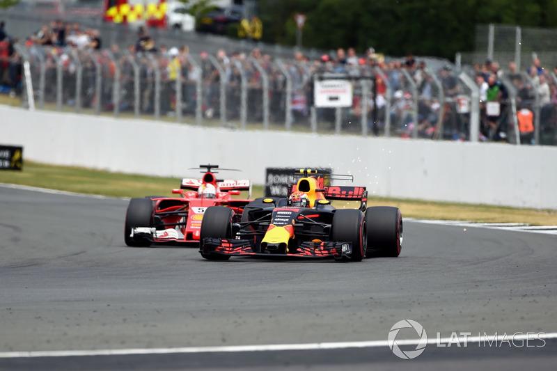 Себастьян Феттель, Ferrari SF70H, Макс Ферстаппен, Red Bull Racing RB13