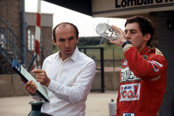 Ayrton Senna, habla de su primera vuelta en el Williams FW08C con Frank Williams dueño del equipo