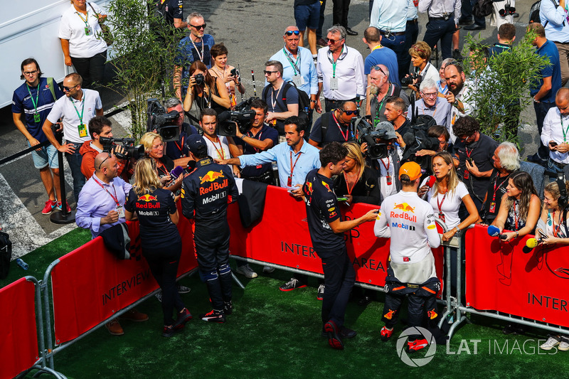 Daniel Ricciardo, Red Bull Racing and Max Verstappen, Red Bull Racing in the media pen