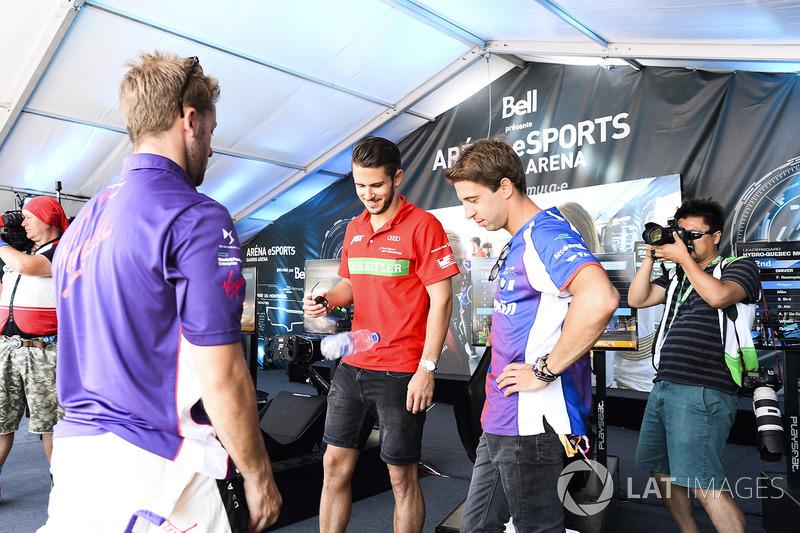 Sam Bird, DS Virgin Racing, Daniel Abt, ABT Schaeffler Audi Sport, and Antonio Felix da Costa, Amlin