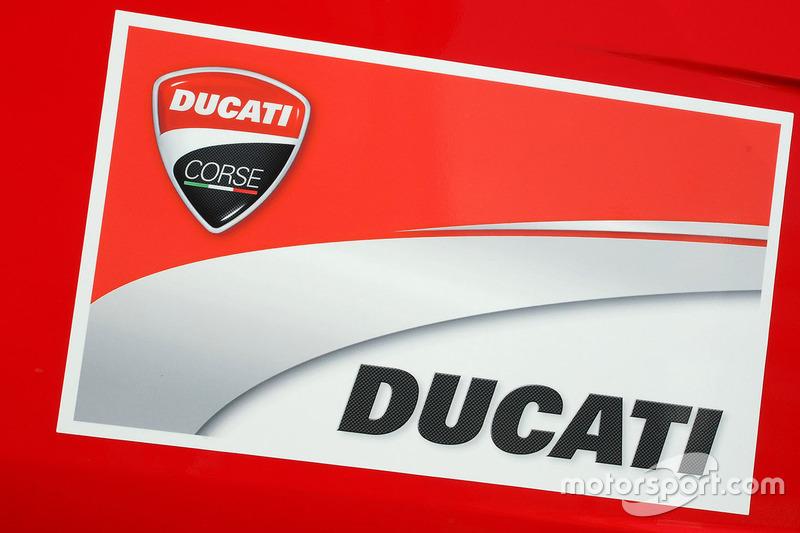 Ducati Team Logo At Italian Gp