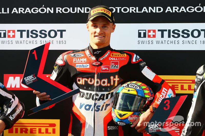 El poleman Chaz Davies, Ducati Team
