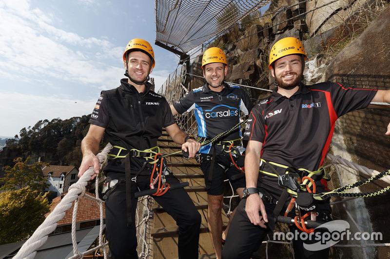 Will Davison, Tekno Autosports, Holden; Todd Kelly, Nissan Motorsports; Scott Pye, Holden Racing Team