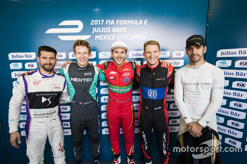 Jose Maria Lopez, DS Virgin Racing, Oliver Turvey, NEXTEV TCR Formula E Team, Daniel Abt, ABT Schaeffler Audi Sport, Maro Engel, Venturi., Jean-Eric Vergne, Techeetah