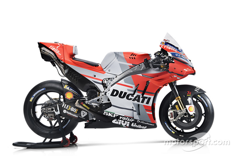 Мотоцикл гонщика Ducati Team Хорхе Лоренсо