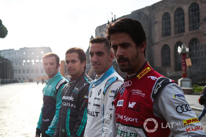 Лукас ди Грасси, Audi Sport ABT Schaeffler, Себастьен Буэми, Renault e.Dams, Нельсон Пике-мл., Jaguar Racing и Лука Филиппи, NIO Formula E Team