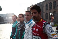Lucas Di Grassi, Audi Sport ABT Schaeffler, Sebastien Buemi, Renault e.Dams, Nelson Piquet Jr., Jaguar Racing e Luca Filippi, NIO Formula E Team