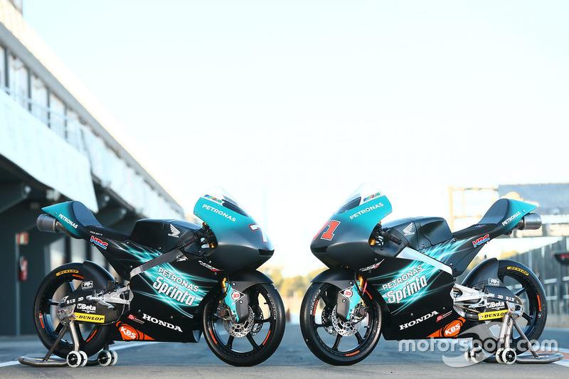 Bikes of Adam Norrodin, Ayumu Sasaki, Petronas Sprinta Racing