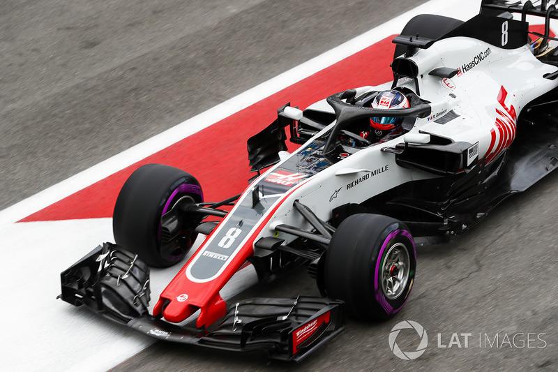 20: Romain Grosjean, Haas F1 Team VF-18 Ferrari, no time