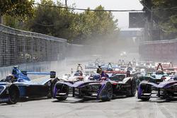 Sébastien Buemi, Renault e.Dams Sam Bird, DS Virgin Racing, Alex Lynn, DS Virgin Racing