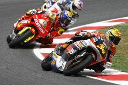 Andrea Dovizioso, Honda; Jorge Lorenzo, Aprilia