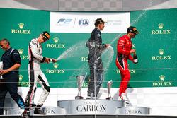 George Russell, ART Grand Prix. Alexander Albon, DAMS, Antonio Fuoco, Charouz Racing System