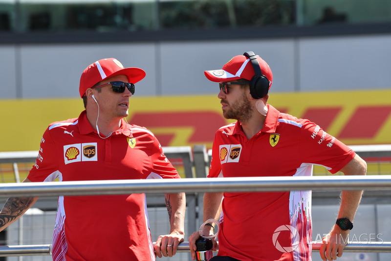 Kimi Raikkonen, Ferrari ve Sebastian Vettel, Ferrari