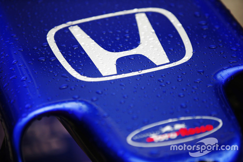 The Honda badge on the nose of the Toro Rosso STR13