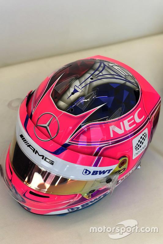 Шлем пилота Sahara Force India F1 Эстебана Окона