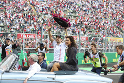 Sergio Perez, Force India, in the drivers parade