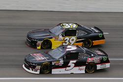 Michael Annett, JR Motorsports Chevrolet and Ryan Sieg, RSS Racing Chevrolet