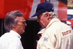 Bernie Ecclestone, and Sid Watkins, FIA Doctor