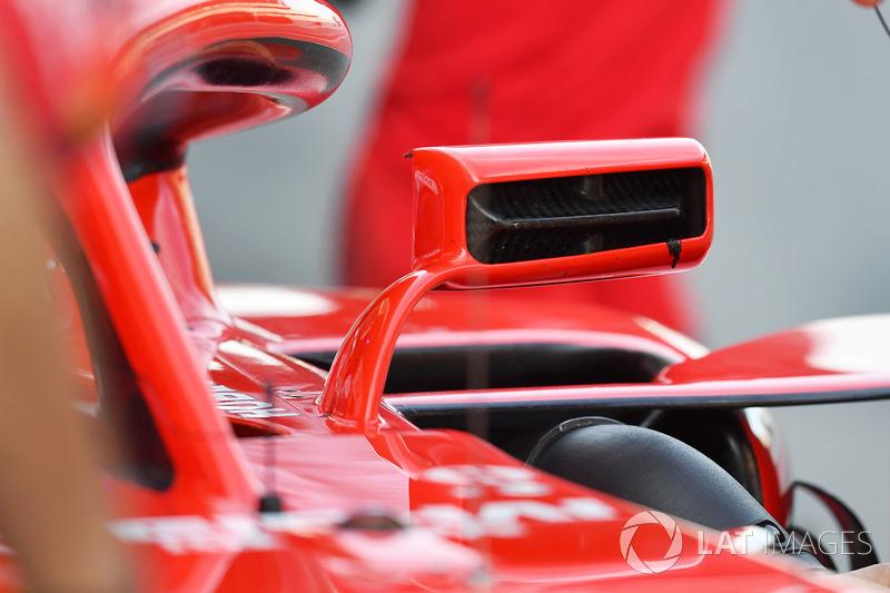 Ferrari SF71H ayna kanat detay