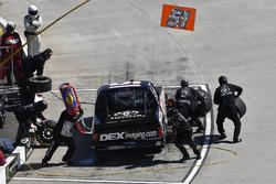 Harrison Burton, Kyle Busch Motorsports, Toyota Tundra DEX Imaging , makes a pit stop