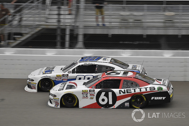 Kaz Grala, Fury Race Cars LLC, Ford Mustang NETTTS and Cole Custer, Stewart-Haas Racing, Ford Mustang Code 3 Associates