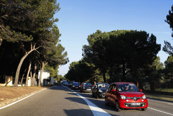 Traffic jams outside Circuit Paul Ricard