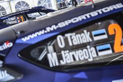 Car of Ott Tänak, Martin Järveoja, Ford Fiesta WRC, M-Sport and Sébastien Ogier, Julien Ingrassia, Ford Fiesta WRC, M-Sport