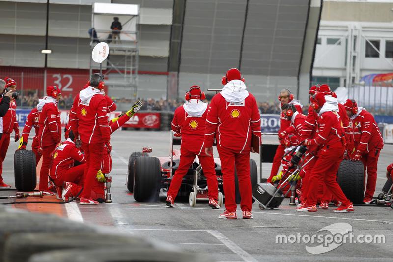 Pitstop del Ferrari F60