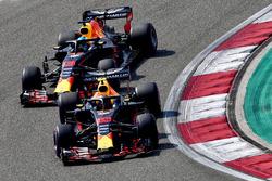 Max Verstappen, Red Bull Racing RB14 and Daniel Ricciardo, Red Bull Racing RB14