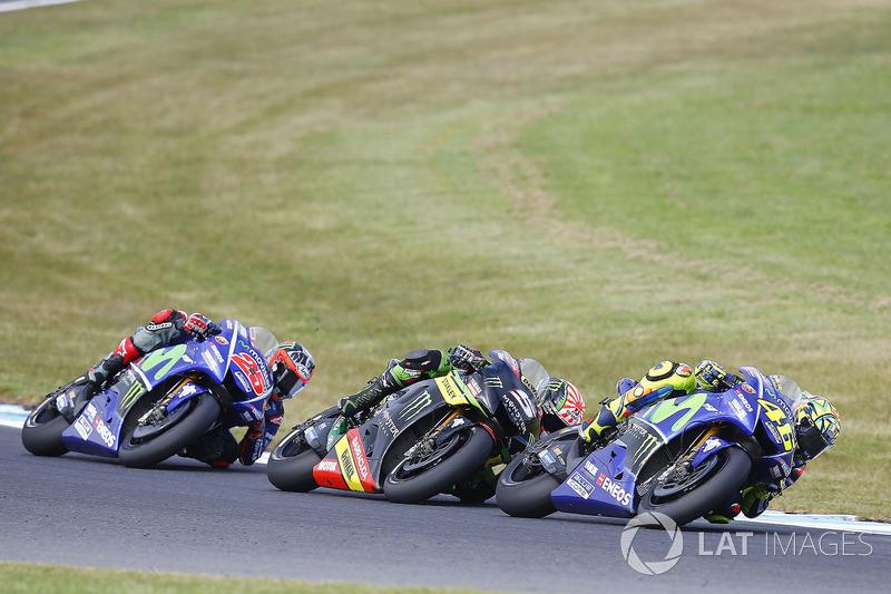 Валентино Россі, Yamaha Factory Racing, Жоанн Зарко, Monster Yamaha Tech 3, Маверік Віньялес, Yamaha