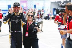 Jean-Eric Vergne, Techeetah, celebrates after winning the championship