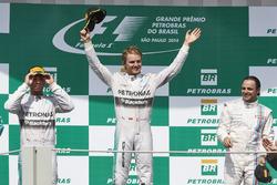 Podium: Race winner place Nico Rosberg, second place Mercedes AMG Lewis Hamilton, Mercedes AMG, third place Felipe Massa, Williams F1 Team