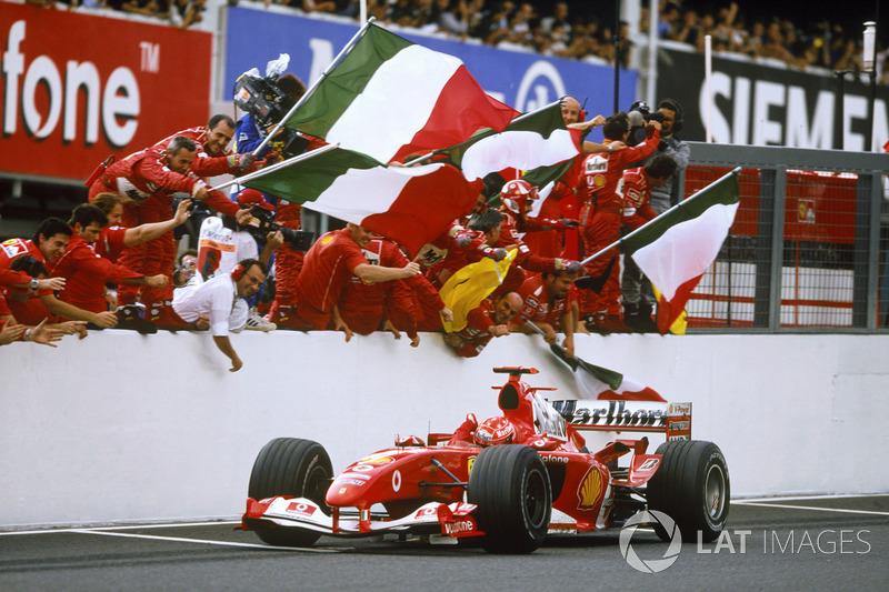Yarış galibi Michael Schumacher, Ferrari F2004