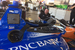 Scott Dixon, Chip Ganassi Racing Honda testing the new aeroscreen