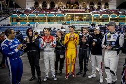 The drivers applaud the winner