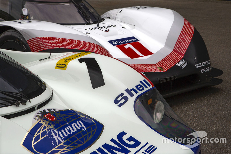 Автомобили Porsche 956 C и Porsche 919 Hybrid Evo