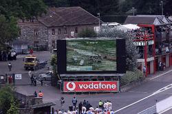Luciano Burti crash in Blanchemont