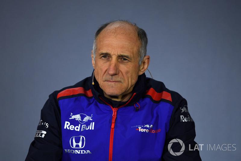 Franz Tost, Scuderia Toro Rosso Team Principal in the Press Conference