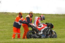 Chute d'Andrea Dovizioso, Ducati Team