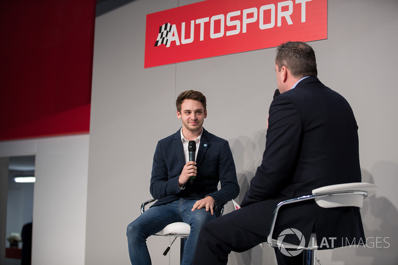 BTCC Driver Jake Hill talks to Henry Hope-Frost on the Autosport stage