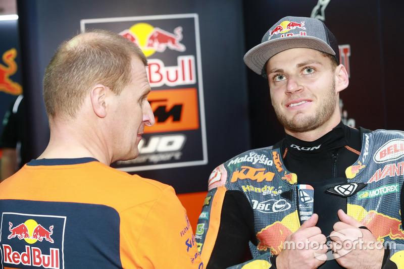 Aki Ajo, Ajo Motorsport Teamchef mit Brad Binder, Red Bull KTM Ajo
