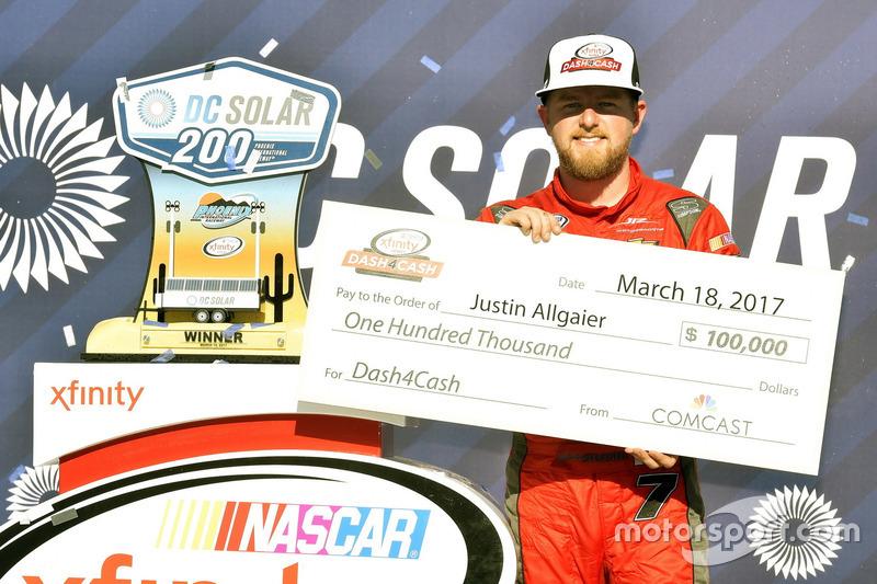 1. Justin Allgaier, JR Motorsports, Chevrolet