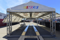 NASCAR inspection tent