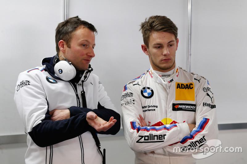 Engineer Michael Kissling with Marco Wittmann, BMW Team RMG, BMW M4 DTM