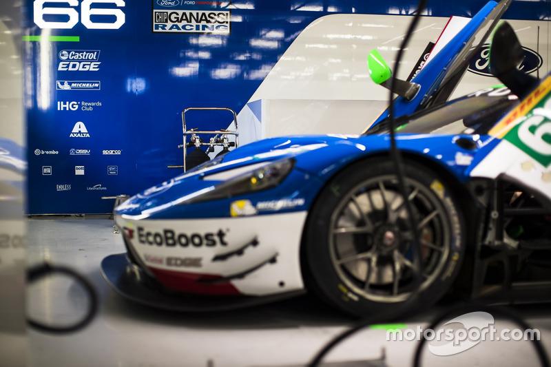Garage of #66 Ford Chip Ganassi Racing Ford GT: Olivier Pla, Stefan Mücke, Billy Johnson