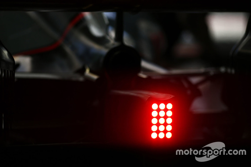Rear light on the Haas F1 Team VF-17