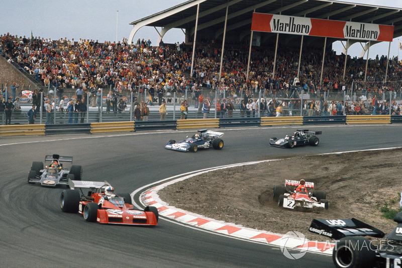 Niki Lauda, BRM P160E, Chris Amon, Tecno PA123B, Emerson Fittipaldi, Lotus 72E Ford, Mike Hailwood, Surtees TS14A Ford, David Purley, March 731 Ford