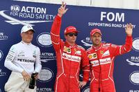 Pole: Kimi Raikkonen, Ferrari, 2. Sebastian Vettel, Ferrari, 3. Valtteri Bottas, Mercedes AMG F1